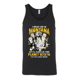Super Saiyan I May Live in Montana Unisex Tank Top T Shirt - TL00103TT