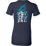Super Saiyan God Blue Vegeta Woman Short Sleeve T shirt - TL00021WS