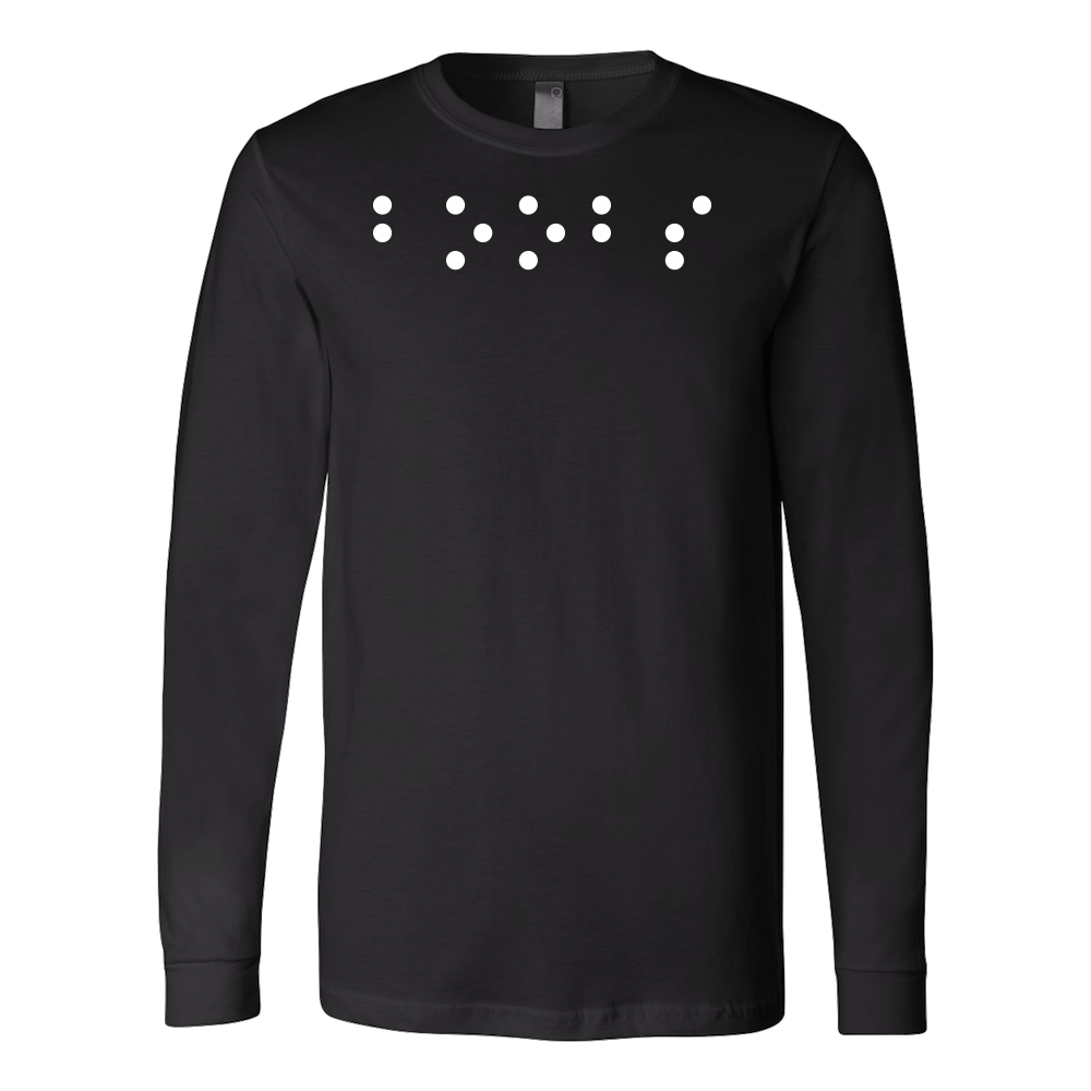 511b0567 Boobs in Braille Funny Long Sleeve T Shirt - TL00685LS – TC ...