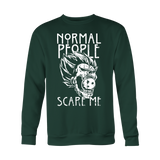 Super Saiyan - Normal people scare me - Holiday Special Sweatshirt T Shirt - TL00872SW