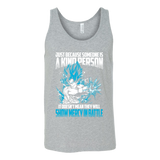 Super Saiyan Goku God Show Mercy in Battle Unisex Tank Top T Shirt - TL00439TT