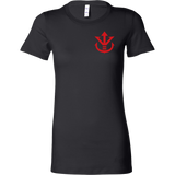 Super Saiyan Red Vegeta Saiyan Crest Woman Short Sleeve T shirt - TL00013WS
