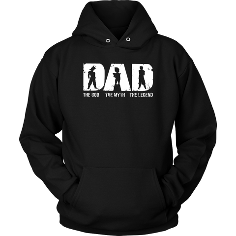 Super Saiyan -Dad the god the myth the legend  - Unisex Hoodie - TL01364HO