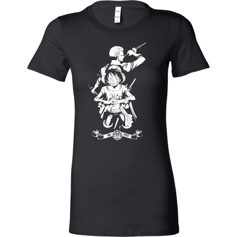 One Piece - Luffy and Zoro - Woman Short Sleeve T Shirt - TL01057WS