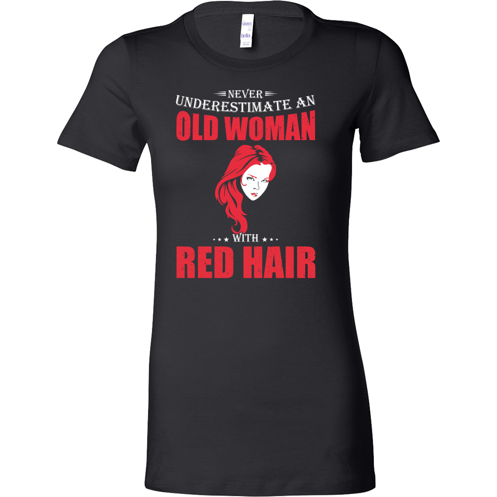 Hobbies - Never underestimate an old woman with red head - women short sleeve t shirt - TL00831WS