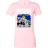 Super Saiyan OREGON Grown Saiyan Roots Woman Short Sleeve T Shirt - TL00168WS