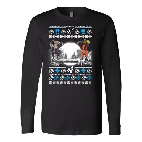 Naruto - SASUKE DAB UGLY CHRISTMAS SWEATER - Unisex Long Sleeve T Shirt - TL01018LS