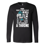 Super Saiyan Vegeta God Blue Stay on throne Long Sleeve T shirt - TL00238LS