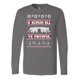 Christmas Long Sleeve - O Scrum All Ye Faithful! - Unisex Long Sleeve T Shirt - TL00998LS