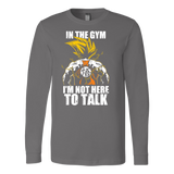Super saiyan goku not to talk in gym training workout Long Sleeve T shirt - TL00553LS