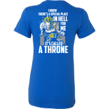 Super Saiyan Vegeta stay on throne Woman Short Sleeve T Shirt - TL00230WS