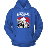 Super Saiyan Arkansas Grown Saiyan Roots Unisex Hoodie T shirt - FOR ARKANSAS FANS - TL00167HO