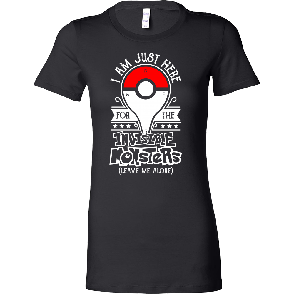 2f44c37a Pokemon Im just here for visable monster Woman Short Sleeve T Shirt -  TL00621WS