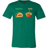 Taco mexican bonjour hola Men Short Sleeve Funny T Shirt - TL00579SS