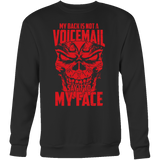 Super Saiyan Majin Vegeta My Back is not a Voicemail Sweatshirt T shirt - TL00435SW