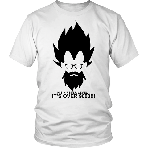 Super saiyan - His hipster lever is over 9000 - Men Short Sleeve T Shirt - TL01342SS