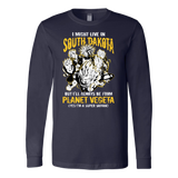 Super Saiyan I May Live in South Dakota Long Sleeve T shirt - TL00107LS