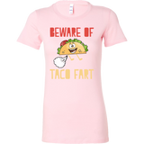 Taco mexican beware of taco fart Woman Short Sleeve Funny T Shirt - TL00577WS