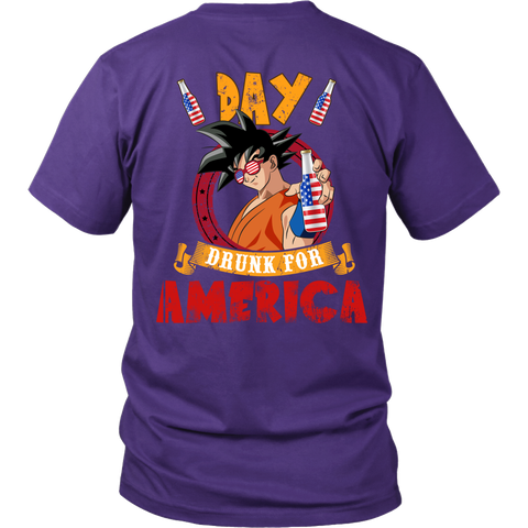 Super Saiyan - Day Drunk For American - Unisex Long Sleeve - TL01372SS - Back