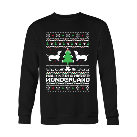 Christmas Sweatshirt - Walking in a wiener wonderland - Unisex Sweatshirt T Shirt - TL01089SW