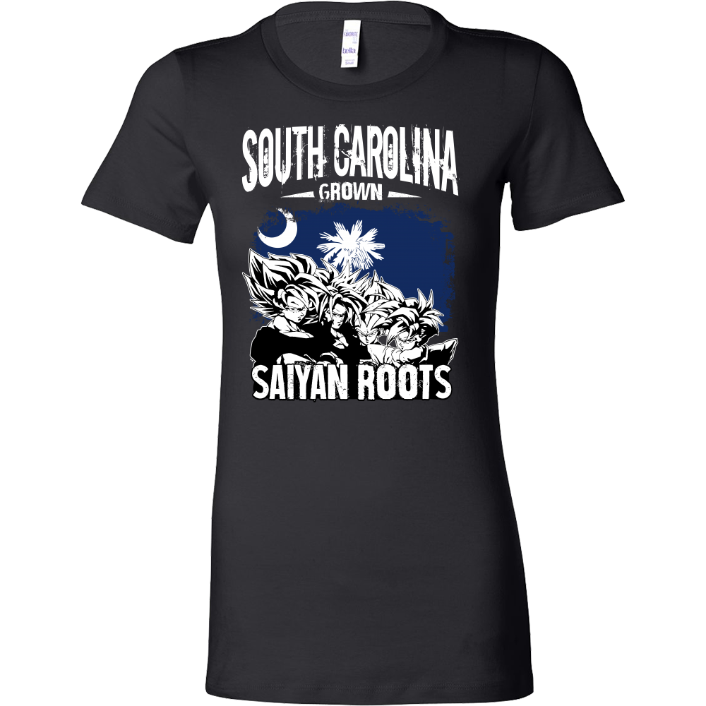 Super Saiyan South Carolina Grown Saiyan Roots Woman Short Sleeve T Shirt - TL00154WS