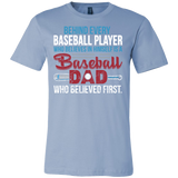 Family - Behind Every Baseball Player Is A Baseball Dad - Men Short Sleeve T Shirt - TL00762SS