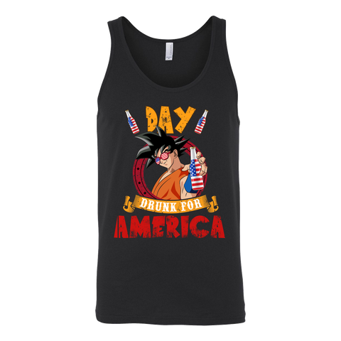 Super Saiyan - Day Drunk For American - Unisex Tank Top - TL01372TT