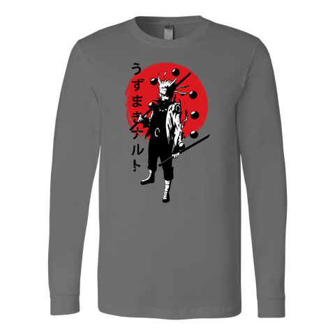Naruto - Uzumaki Naruto nine tail fox form - Unisex Long Sleeve T Shirt - TL01114LS
