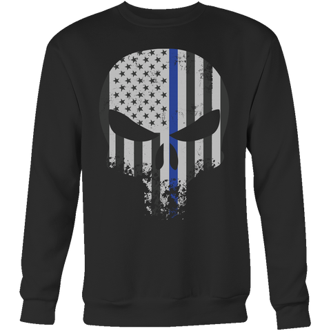 Threadrock Honor & Respect Skullcap Sweatshirt T Shirt - TL00636SW