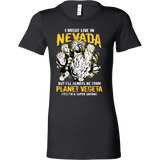 Super Saiyan I May Live in Nevada Woman Short Sleeve T shirt - TL00087WS