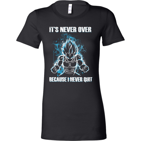 Super Saiyan - its never over because i never quit - Woman Short Sleeve T Shirt - TL01131WS
