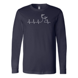 Christmas - HUNTING HEARTBEAT, GLOW IN THE DARK - Unisex Long Sleeve T Shirt - TL00975LS