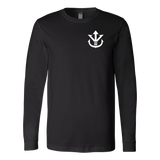 Super Saiyan Long Sleeve T shirt - White Vegeta Saiyan Crest - TL00012LS