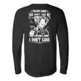 Super Saiyan Vegeta Dont Care Long Sleeve T shirt - TL00283LS