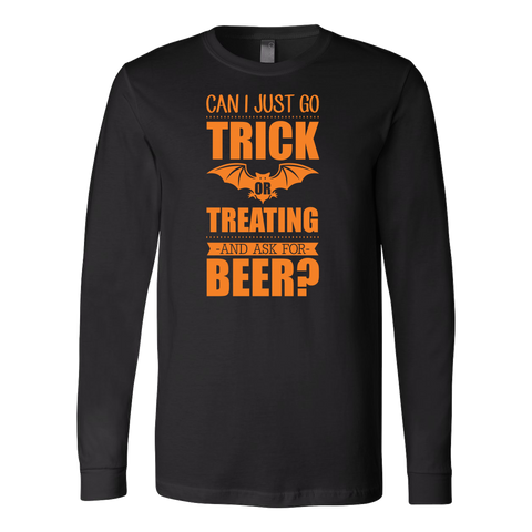 Halloween - Can I Just Go Trick Or Treating And Ask For Beer - Men Long Sleeve T Shirt - TL00798LS