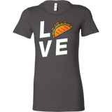 Taco mexican love Woman Short Sleeve Funny T Shirt - TL00599WS