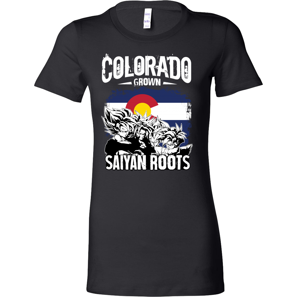 Super Saiyan Colorad Grown Saiyan Roots Woman Short Sleeve T Shirt - TL00151WS