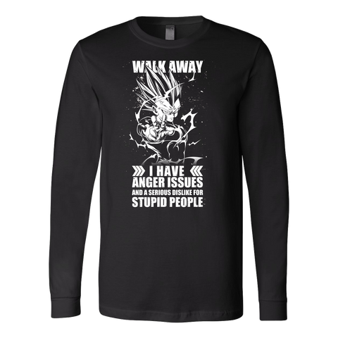 Super Saiyan - Walk away i have anger issues- Unisex Long Sleeve T Shirt - TL01306LS