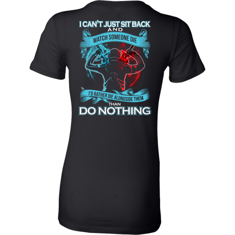 SAO Sword Art Online - I can't just sit back and wath some die - Woman Short Sleeve T Shirt - TL01188WS