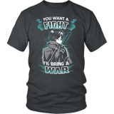 Sword art online - you want a fight i ll bring the war - Men Short Sleeve T Shirt - TL01193SS