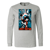 Goku and Vegeta Just Saiyan Long Sleeve T shirt - TL00007LS