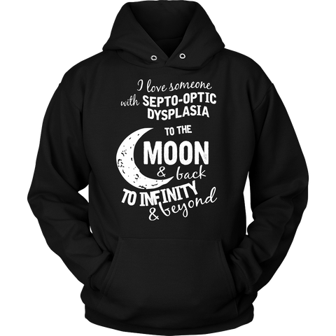 Funny T Shirt - I love someone to the moon and back - Unisex Hoodie T Shirt - TL01350HO