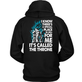 SUPER SAIYAN VEGETA GOD BLUE LIVING IN THRONE HOODIE SHIRT - TL00210HO