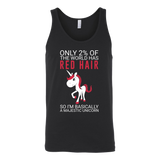 Hobbies - only 2% of the world has red hair - unisex tank top t shirt - TL00834TT