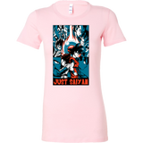 Goku and Vegeta Just Saiyan Woman Short Sleeve T shirt - TL00007WS
