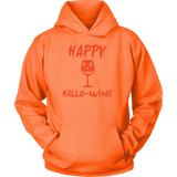 Halloween - Happy hallo wine - Unisex Hoodie T shirt - TL00716HO