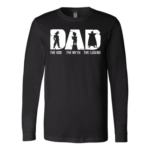 Super Saiyan -Dad the god the myth the legend  - Unisex Long Sleeve - TL01363LS