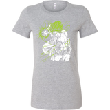 Legendary Super Saiyan Broly Monster Woman Short Sleeve T shirt - TL00008WS