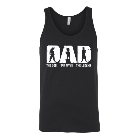 Super Saiyan -Dad the god the myth the legend  - Unisex Tank Top - TL01364TT