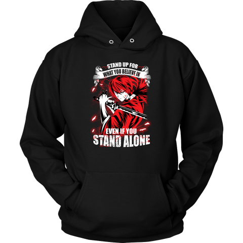 Rurouni Kenshin - Stand Up For What You Believe In - Unisex Hoodie T Shirt - TL01269HO